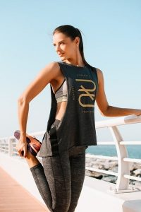 tank top with bra and leggings