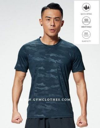 Wholesale Royal Blue Camouflage Compression Tee